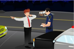 police officer requiring driver to perform roadside test